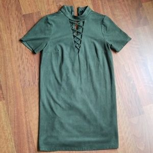 Green Night out mini dress